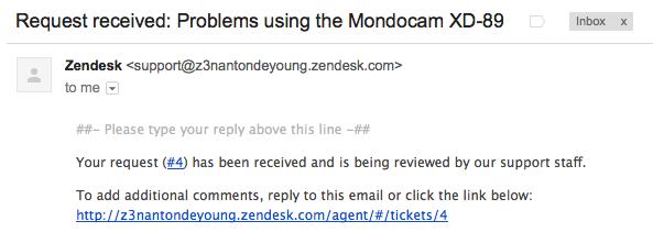 Update notifications in Zendesk