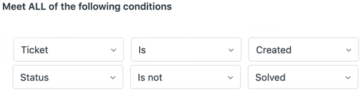 All of conditions in Zendesk