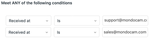 Any of conditions in Zendesk